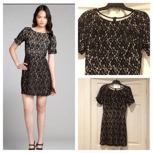 NWT ABS black lace dress