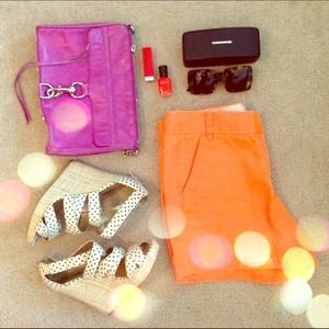J. Crew Other - Neon J. Crew Chino Shorts