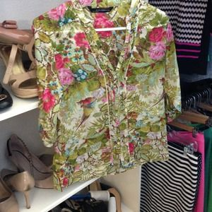 Colorful printed blouse