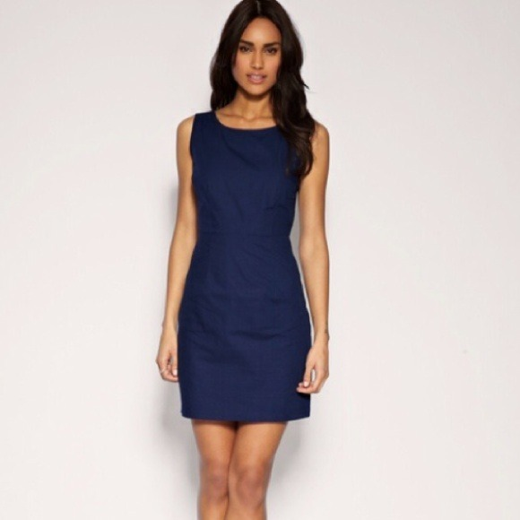 ASOS - Navy Shift Dress with Bow Back bundle with wedges from ...