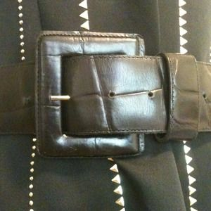 Belt, Wide Black Leather