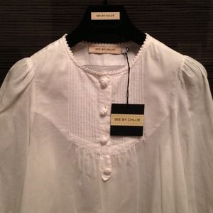 See by Chloe White Shirt