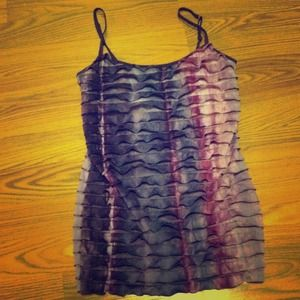 Never before worn ruffled purple tank top