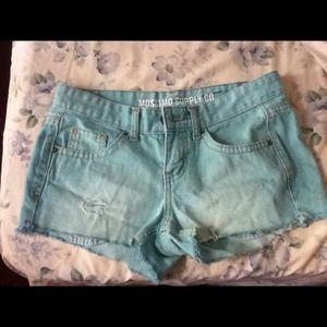 Pants - Mint Green Shorts