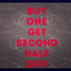 BUY ONE ITEM, GET THE SECOND 50% OFF!!