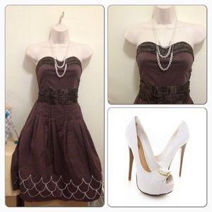 Pretty brown dress NWOT