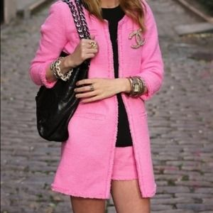Zara Jackets & Blazers - Pink tweed Zara jacket, never worn!