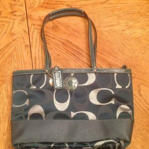 Teal Coach Handbag