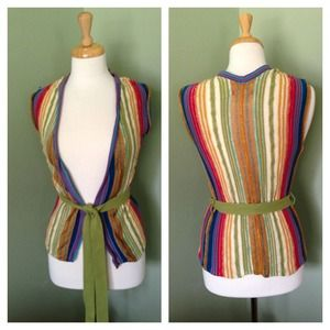 ❌ SOLD Old Navy Striped Cardigan/Vest