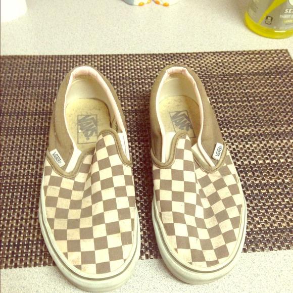 vans checkerboard Khaki