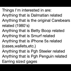 Other - Things I'm interested in