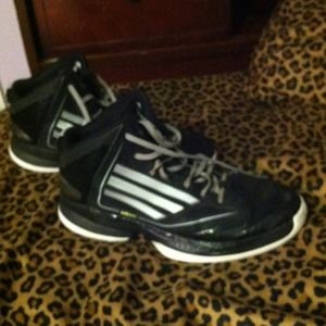 Barely worn, adizero women's basketball shoes.