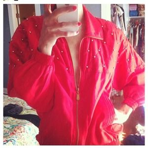 Vintage silk track suit jacket