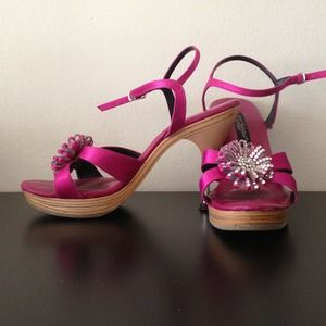 Betsey Johnson hot pink heels