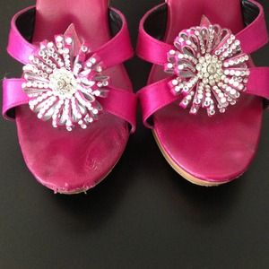 Betsey Johnson Shoes - Betsey Johnson hot pink heels