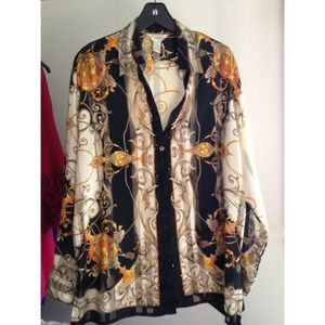 gantos Tops - Vintage women's givenchy style long sleeved blouse