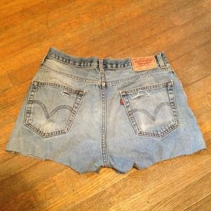 Vintage high waisted Levi cut off shorts