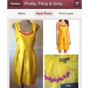 Miss Sixty Dresses & Skirts - NEW Miss Sixty Yellow Dress