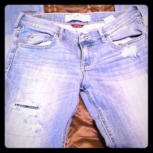 Hollister Patchwork Flared Jeans