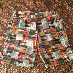 J Crew Plaid City Fit Shorts