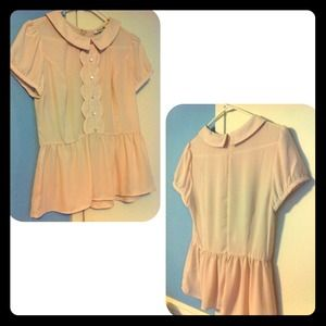 Forever 21 Tops - Peter Pan Collar Blouse