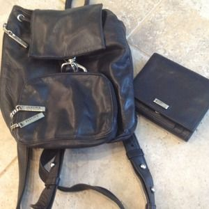 Handbags - Perlina leather Backpack & Wallet
