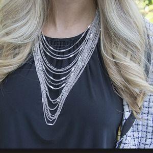 Jewelry - Multi-Strand chain bib necklace