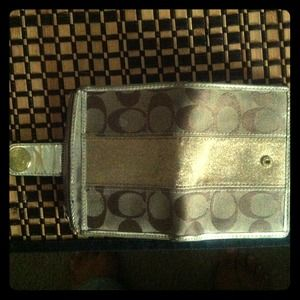 Authentic Brown and gold coach wallet