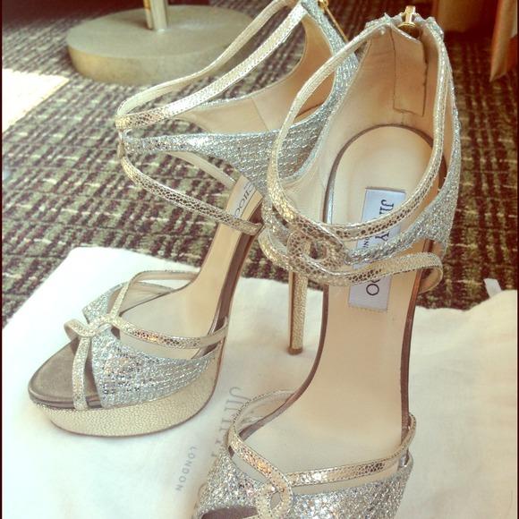 6a578409294 Jimmy Choo Shoes - Jimmy Choo Sierra Glitter Platform Sandal sz 39