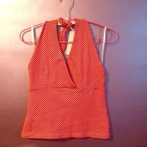 Like new red and white checkered halter top!