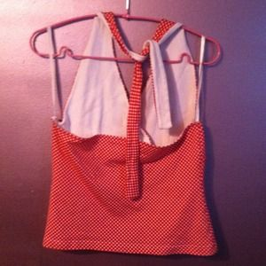 SO Tops - Like new red and white checkered halter top!
