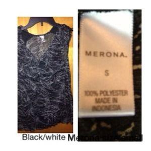 Merona Black White  Small Dress Light Casual Women