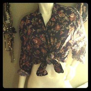 Vintage purple floral shirt