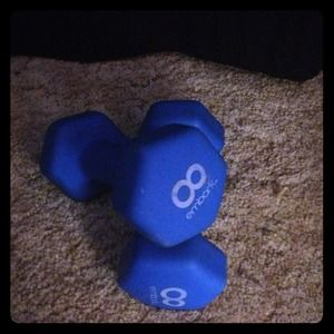 2 8lb weights