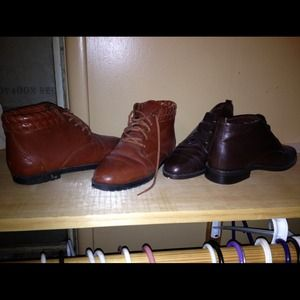 Bundle ! 2 pair of brown leather shoes