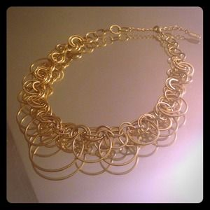 Alfani Jewelry - Gold interlocked rings necklace