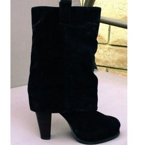 Boots - Suede Fold Over Boots NWOT