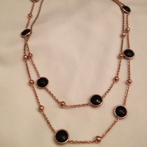 Ippolita Rose Gold and Onyx Necklace