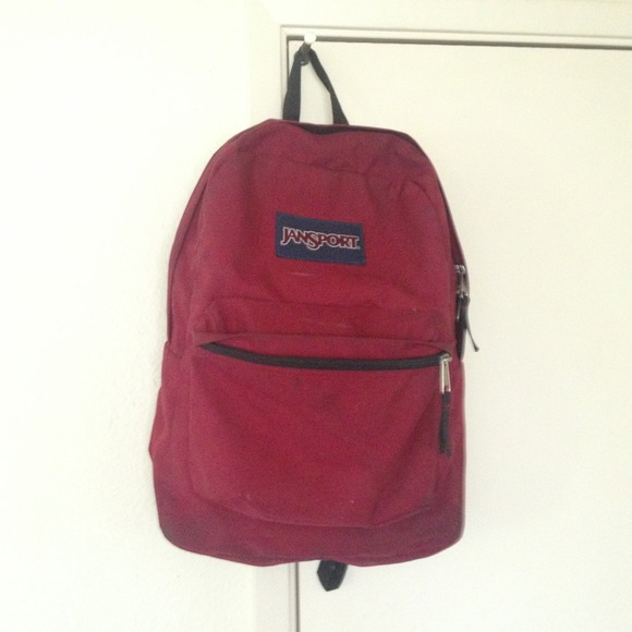 jansport - Jansport maroon burgundy red backpack from ! .'s closet ...