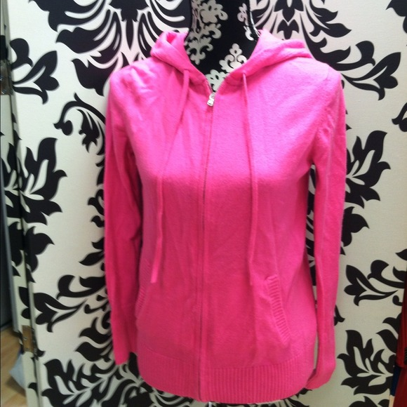 66% off GAP Sweaters - Gap women's hot pink zip up hooded sweater ...