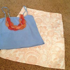 Nordstrom Skirt Tan Floral Print