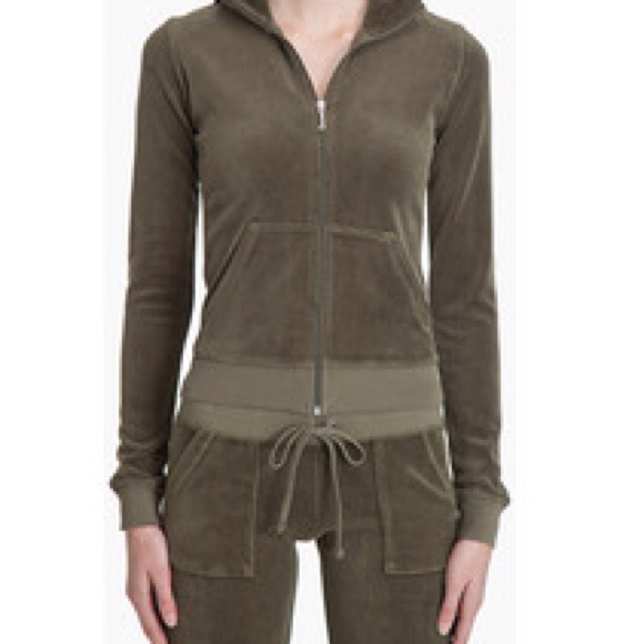 7d7838b18df3 Juicy Couture Pants - Full Olive Green Juicy Couture Track Suit