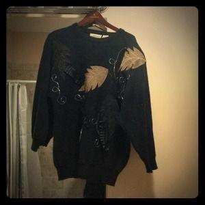Vintage 80s black sweater