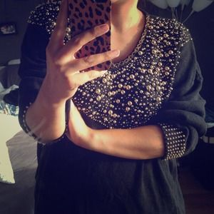 Vintage stud sweater
