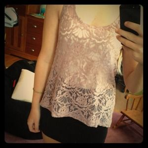  Purple lace top with Bow 