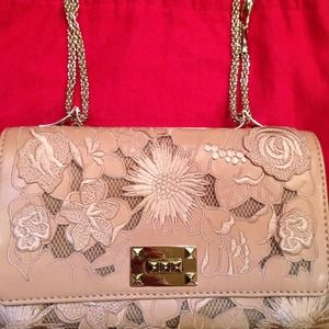 Valentino Lace Small Flap Bag NWT Blush