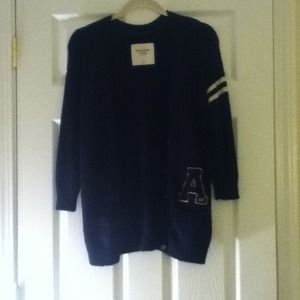 Navy Abercrombie and Fitch varsity sweater!!
