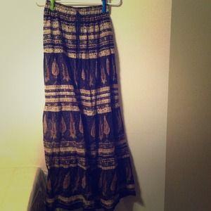 Boho chic maxi skirt