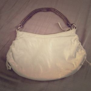 Banana Republic White Leather Bag