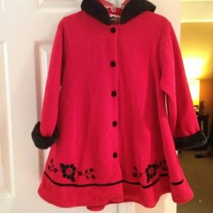 Outerwear - Childs Little Red Swing Coat